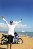 Exotischer tropischer Strand Lizenzfreies Stockfoto