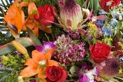 Exotisches Blumen arrangment Lizenzfreie Stockbilder