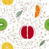 Exotisches Fruchtmuster Lizenzfreie Stockfotos