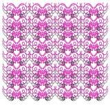 Exotisches LUXUSVINT Mandala-Rosa WEISSES Orn Lizenzfreie Stockfotos