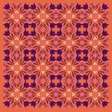 Exotisches LUXUSVINT Mandalen orange -- vint purpurrote Kunst vektor abbildung
