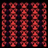 Exotisches LUXUSVINT Mandalen ROT AUF SCHWARZEM Vint lizenzfreie abbildung
