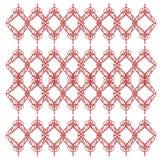 Exotisches LUXUSVINT Mandalen ROT AUF WEISS vektor abbildung