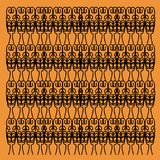Exotisches Mandala-Luxusgoldexotisches schwarzes ornam Lizenzfreie Stockfotografie
