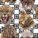 Exotisches Muster des wilden Tieres des Leoparden in einer Aquarellart lizenzfreie abbildung