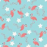 Exotisches nahtloses Muster der Flamingos Lizenzfreie Stockfotografie