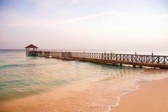 Exotisches Paradies Das Konzept der Reise, des Tourismus und der Ferien Ein tropischer Erholungsort in den Karibischen Meeren Lizenzfreies Stockfoto