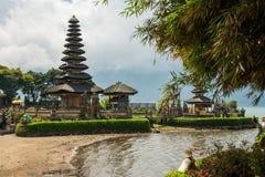 Exotisches pura ulun danu beratan Tempel, Bali lizenzfreie stockbilder