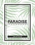 Exotisk bakgrund med palmblad och ram för designhipster Royaltyfri Foto