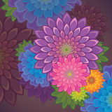 Exotisk blommabakgrund Arkivbild