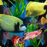 Exotisk fisk i den undervattens- världen Fotografering för Bildbyråer