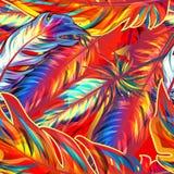 exotisk fjäder stock illustrationer