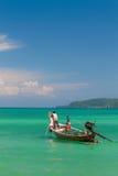 Exotisk fjärd av Rawai i den Phuket ön Thailand Royaltyfri Foto