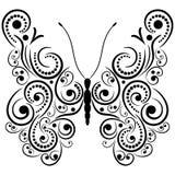 Exotisk fjäril. stock illustrationer
