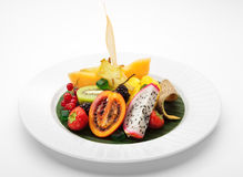 exotisk frukt för maträtt Royaltyfri Bild