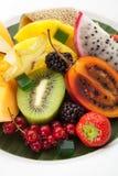 exotisk frukt för maträtt arkivbilder