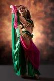 exotisk kvinna för härlig magdansös Royaltyfria Bilder