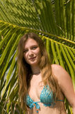 exotisk kvinna för strand Fotografering för Bildbyråer