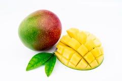 Exotisk mogen mango arkivfoton