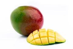Exotisk mogen mango fotografering för bildbyråer