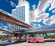 Exotisk resor och affärsföretag Thailand tur Bangkok stad Royaltyfria Bilder