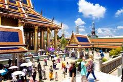 Exotisk resor och affärsföretag Thailand tur Buddha och gränsmärken Royaltyfri Fotografi
