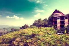 Exotisk resor och affärsföretag Thailand tur Buddha och gränsmärken Arkivfoton