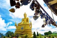 Exotisk resor och affärsföretag Thailand tur Buddha och gränsmärken Arkivbilder