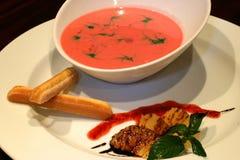 exotisk soup för efterrätt Fotografering för Bildbyråer