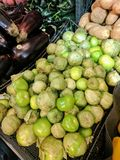 Exotisk stor grön frukt i hud royaltyfri foto