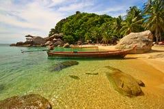 exotisk strand Arkivfoton