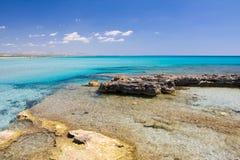 exotisk strand Royaltyfri Fotografi