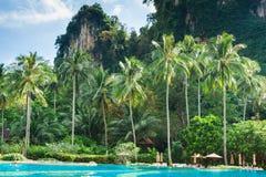 Exotisk strand för Ao Nang, Krabi landskap, Thailand Arkivfoton
