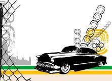 exotisk vektor för bilstad royaltyfri illustrationer