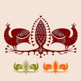 Exotiska fåglar vektor illustrationer