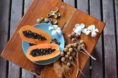 exotiska frukter Fotografering för Bildbyråer