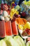 Exotiska frukter, asiatisk marknad Arkivbild