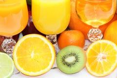 exotiska frukter för bakgrund Royaltyfria Bilder