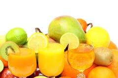 exotiska frukter för bakgrund Fotografering för Bildbyråer