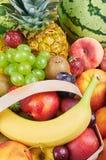 exotiska frukter för sortiment Arkivfoto