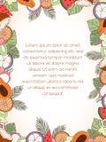 Exotiskt fruktinbjudankort Fotografering för Bildbyråer