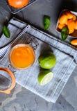 Exotiskt kumquatdriftstopp med mandariner arkivfoto