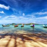 Exotiskt landskap Thailand för tropisk strand royaltyfri foto