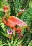 exotiskt tropiskt för bakgrund stock illustrationer