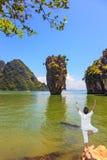 Exotiskt vila i Thailand royaltyfria foton