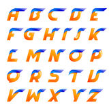 Expédiez les éléments créatifs de calibre de conception de lettres bleues et oranges pour l'application ou la société Photos stock