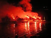 Expédition d'hors-d'oeuvres d'incendie images libres de droits