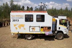 Expédition de chemin de bicyclette de l'Afrique Image libre de droits