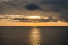 Expédition de coucher du soleil Photo stock