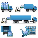 Expédition de l'eau minérale de vecteur Photos stock